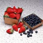 Valores nutricionales de arándanos y fresas