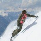 Entrenamiento apropiado del cuerpo para girar con un Snowboard