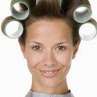 Cómo envolver el cabello en rollos sin loción fijadora