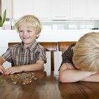 Experimento de ciencias sobre la corrosión de monedas para niños