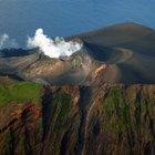 Tres tipos de volcanes: cono de ceniza, en escudo y compuesto