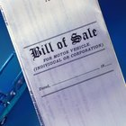 How to Write a Bill of Sale in Texas
