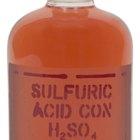 Efectos del ácido sulfúrico en la salud y en el medio ambiente