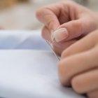 Cómo tejer una puntada hilván