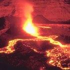 ¿Qué tipo de accidentes geográficos hay en las áreas volcánicas?