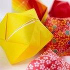 Instrucciones fáciles para hacer una flor de origami