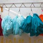 Cómo usar la lavadora para teñir telas