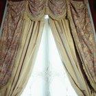 Cómo cortar el material de cortina recto