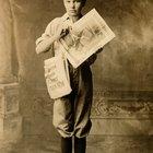 Repartidor de periódicos de los años 20