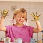 Actividades de mezclar pinturas de colores para preescolar
