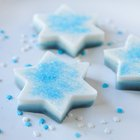 Coconut Blueberry Gelatin Stars