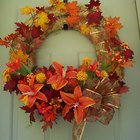 Decorate a Large Fall Straw Wreath