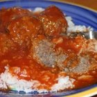 Recipe for Ground Beef and Rice Balls