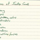 Types of Index Cards