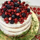 Easy Eggnog-Flavored Layer Cake Recipe with Fruit Topping