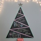 Chalkboard and Washi Tape Christmas Tree Tutorial