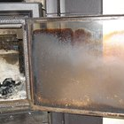 How to clean the glass door of a wood stove
