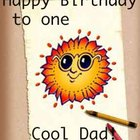 How to make a birthday card from a child to dad