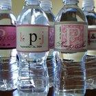 Etiquetas para botellas de agua hechas en casa