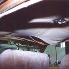 Como corrigir a queda da forração do teto de um carro