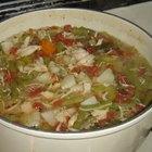 Cómo hacer sopa de pollo con verduras
