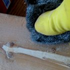 How to remove wood filler