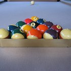 What is the proper way to set up pool balls?