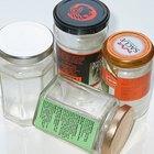¿Qué puedes usar para quitar las etiquetas de los frascos?