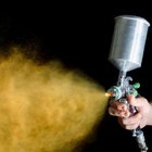 How to calculate the viscosity for spray painting