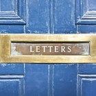 DIY wooden letter box