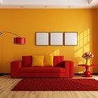 What colours can I use with a red sofa?
