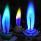 How to make coloured flame candles