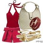 Cómo combinar el rojo y el rosa al vestir