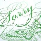 Modos criativos de pedir desculpas