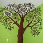 Cómo pintar un árbol en una pared