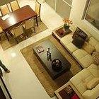 Cómo decorar un conjunto de comedor y sala de estar