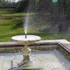 Como manter a água limpa em fontes ao ar livre