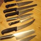 Por que uma faca de chef de cozinha tem aberturas?