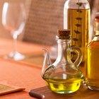 Cómo limpiar una botella de aceite