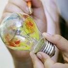 Como pintar lâmpadas