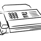 How to send a test fax to a fax machine