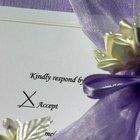 La forma correcta de llenar las tarjetas de respuesta de bodas
