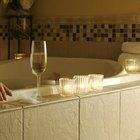 How to tile a bathroom wall around the bath tub