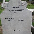 Ideas de epitafios para una lápida