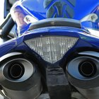The effects of exhaust fumes from motorbikes