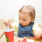 Actividades sensoriales con comidas para bebés