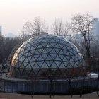 Materiales comunes en una cúpula geodésica