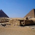 Herramientas y materiales utilizados para construir pirámides