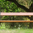 How to make a park bench step-by-step