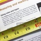Instruções para ler um fita métrica